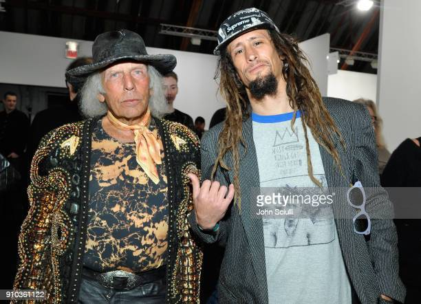 James Goldstein and Jared Aufrichtig at OPENING NIGHT   ART LOS ANGELES CONTEMPORARY 9TH EDITION at Barkar Hangar on January 25 2018 in Santa Monica...