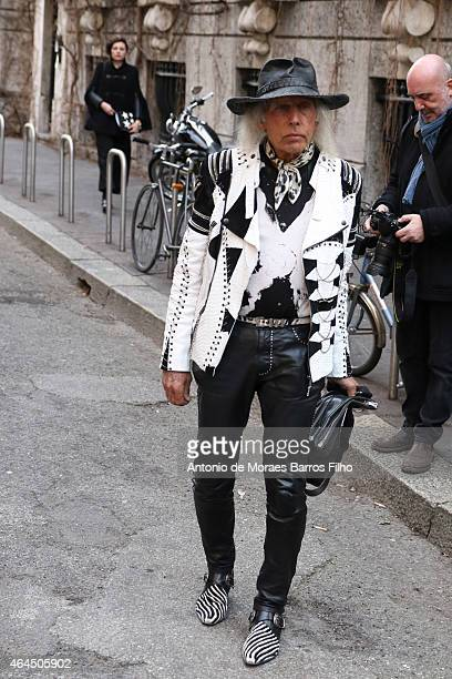 James Goldstein arrives at Alberta Ferretti show during Milan Fashion Week 2015 on February 25 2015 in Milan Italy