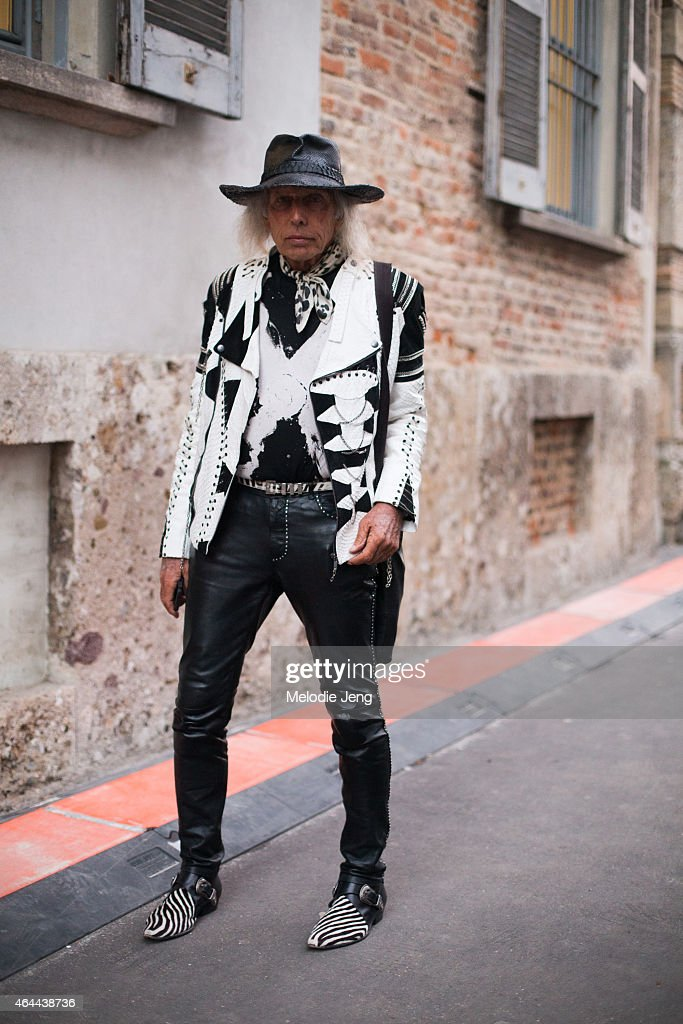 James Goldstein exits the Alberta Ferretti show on February 25, 2015 in Milan, Italy.