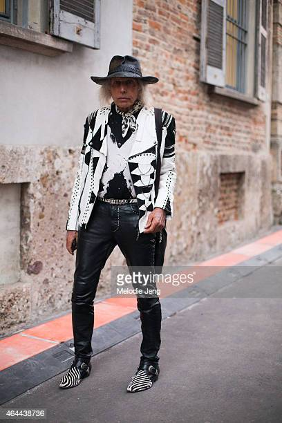 James Goldstein exits the Alberta Ferretti show on February 25 2015 in Milan Italy