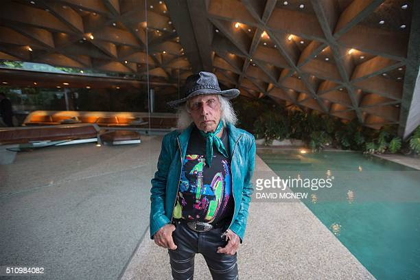 James Goldstein is seen during a tour of the John Lautnerdesigned home being donated to the Los Angeles County Museum of Art by fashion and...