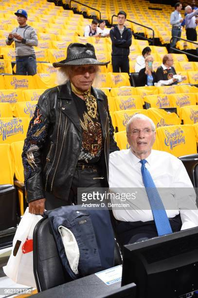 James Goldstein looks on prior to Game Four of the Western Conference Finals during the 2018 NBA Playoffs between the Houston Rockets and Golden...