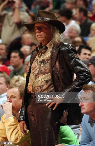 James Goldstein watches the the Sacramento Kings host the Utah Jazz in Game three of the Western Conference Quarterfinals during the 2003 NBA...