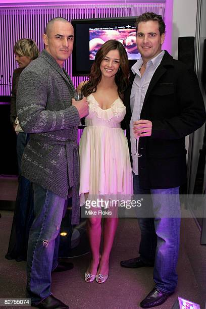 James Golfin Kirsty Lee Allan Jack Elsegood attend the official launch of 'Make a Wish with Mariah Carey' at Icebergs on September 10 2008 in Sydney...