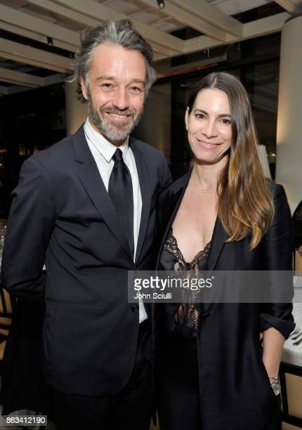 James Gooding and Alisha Goldstein attend THE OUTNET x Amber Valletta at Waldorf Astoria Beverly Hills on October 19 2017 in Beverly Hills California