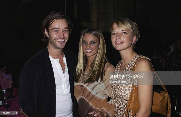 James Gooding Jordan and Sara Cox attend the 2002 Elle Style Awards Party at The Natural History Museum on September 16 2002 in London