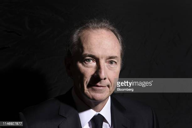 James Gorman chairman and chief executive officer of Morgan Stanley poses for a photograph following a Bloomberg Television interview in Beijing...