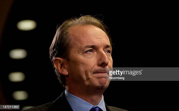 James Gorman chairman and chief executive officer of Morgan Stanley pauses before an interview in New York US on Wednesday June 27 2012 Morgan...