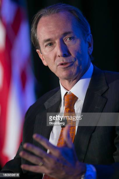 James Gorman chairman and chief executive officer of Morgan Stanley speaks during an Economic Club of Washington luncheon in Washington DC US on...