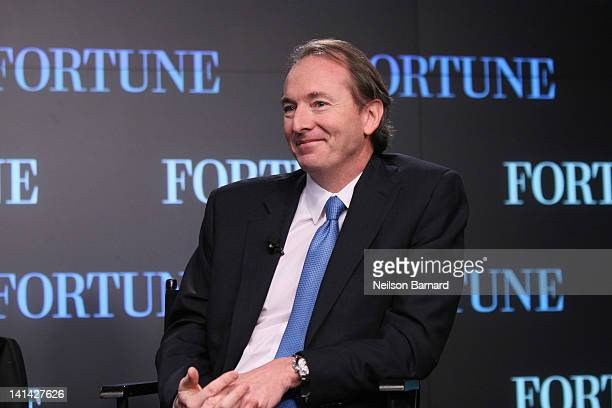 James Gorman Chairman CEO Of Morgan Stanley attends the FORTUNE Breakfast And Conversation With James Gorman Chairman CEO Of Morgan Stanley at NASDAQ...