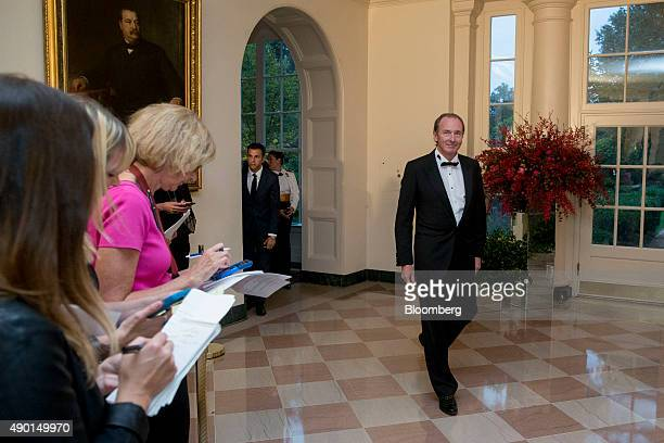 James Gorman chief executive officer of Morgan Stanley arrives at a state dinner in honor of Chinese President Xi Jinping at the White House in...