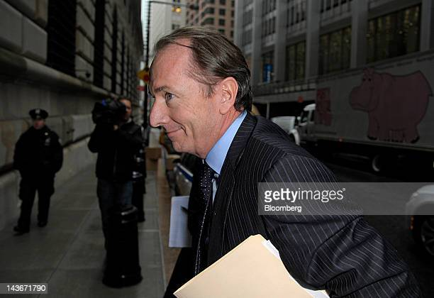 James Gorman chief executive officer of Morgan Stanley arrives at the Federal Reserve Bank of New York in New York US on Wednesday May 2 2012 CEOs...