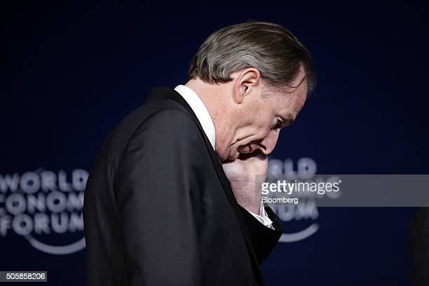 James Gorman chief executive officer of Morgan Stanley arrives for a panel session at the World Economic Forum in Davos Switzerland on Wednesday Jan...