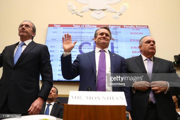 James Gorman chief executive officer of Morgan Stanley from left Brian Moynihan chief executive officer of Bank of America Corp and Ron O'Hanley...