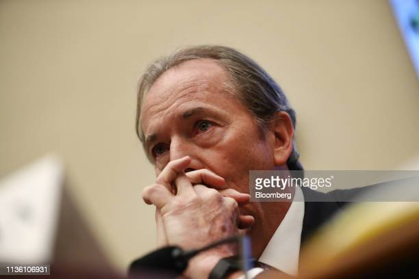 James Gorman chief executive officer of Morgan Stanley listens during a House Financial Services Committee hearing in Washington DC US on Wednesday...