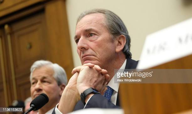 James Gorman chief executive officer of Morgan Stanley listens during a House Financial Services Committee hearing on April 10 2019 in Washington DC...