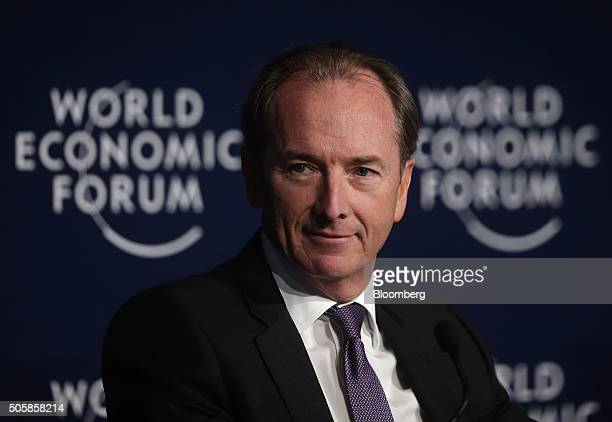 James Gorman chief executive officer of Morgan Stanley looks on during a panel session at the World Economic Forum in Davos Switzerland on Wednesday...