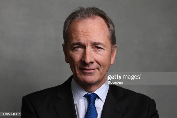 James Gorman, chief executive officer of Morgan Stanley, poses for a photograph following a Bloomberg Television interview on day two of the World...