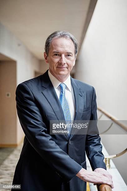 James Gorman chief executive officer of Morgan Stanley poses for a portrait following a Bloomberg Television interview on the sidelines of the Morgan...