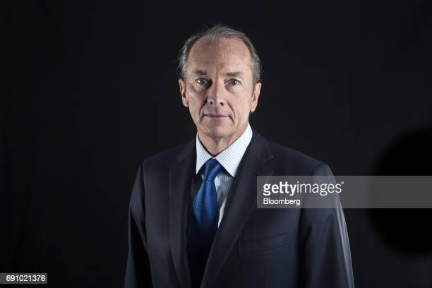 James Gorman chief executive officer of Morgan Stanley poses for a portrait before a Bloomberg Television interview on the sidelines of the Morgan...