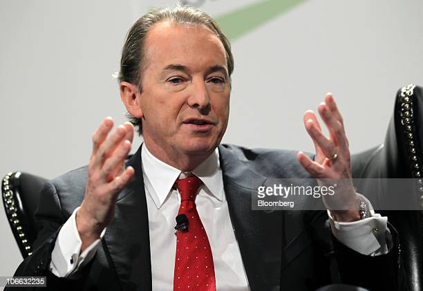 James Gorman chief executive officer of Morgan Stanley speaks during the Securities Industry and Financial Markets Association annual meeting in New...