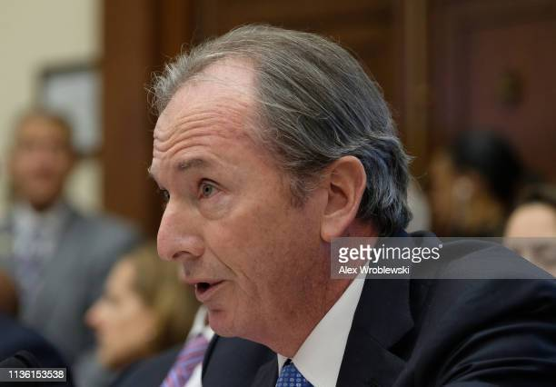 James Gorman chief executive officer of Morgan Stanley speaks during a House Financial Services Committee hearing on April 10 2019 in Washington DC...