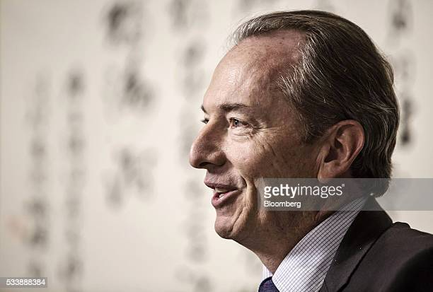 James Gorman chief executive officer of Morgan Stanley speaks during a Bloomberg Television interview on the sidelines of the Morgan Stanley China...