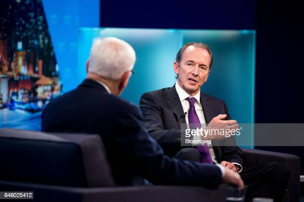 James Gorman chief executive officer of Morgan Stanley speaks during an interview on The David Rubenstein Show in New York US on Monday Feb 27 2017...