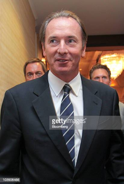James Gorman chief executive officer of Morgan Stanley walks to a meeting at the the Banks in Crisis conference in Frankfurt Germany on Wednesday...
