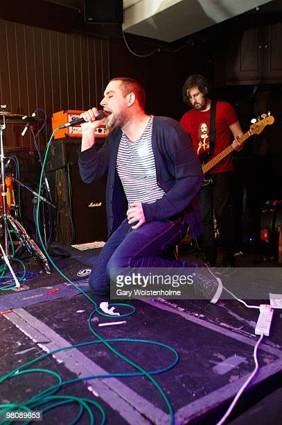 James Graham and Johnny Docherty of The Twilight Sad performs on stage at The Harley on March 27, 2010 in Sheffield, England.