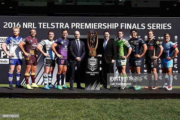 James Graham Corey Parker Paul Gallen Cameron Smith NRL CEO Todd Greenberg NSW Minister for Trade Tourism and Major Events Stuart Ayres Jarrod Croker...