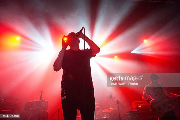 James Graham from The Twilight Sad opens for Editors at Le Trianon on October 28 2015 in Paris France