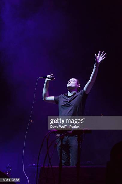 James Graham from The Twilight Sad opens for The Cure at AccorHotels Arena on November 15, 2016 in Paris, France.