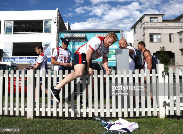 James Graham of England arrives at training during an England Media Opportunity on May 2 2017 in Sydney Australia
