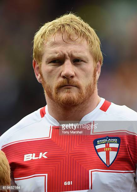 James Graham of England during the Four Nations match between the England and New Zealand Kiwis at the John Smith's Stadium on October 29 2016 in...