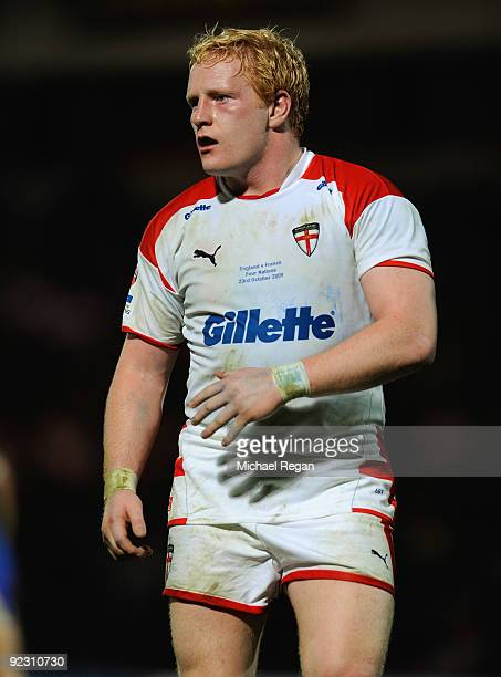 James Graham of England during the Gillette Four Nations match between England and France at the Keepmoat Stadium on October 23 2009 in Doncaster...