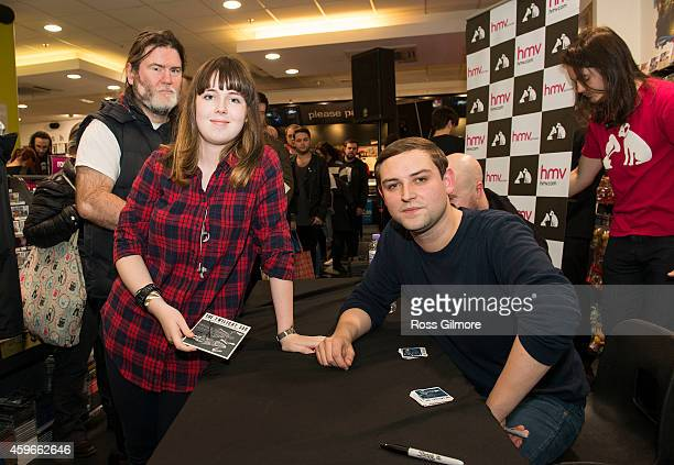 James Graham of The Twilight Sad meets fans and signs copies of their album 'Nobody Wants to Be Here and Nobody Wants to Leave' at HMV on November 27...
