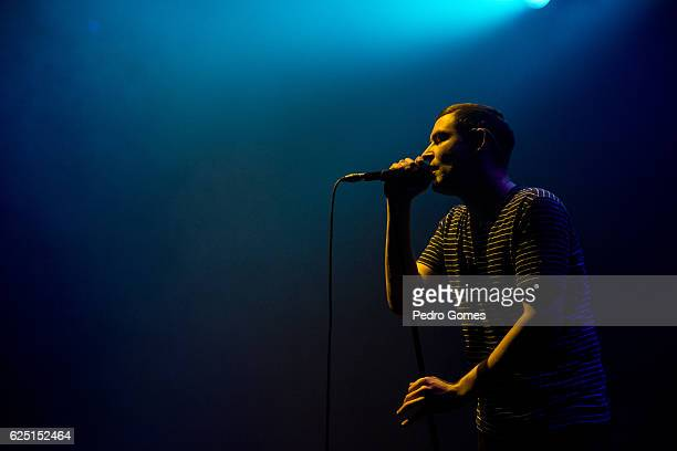James Graham of The Twilight Sad opens for The Cure at MEO Arena on November 22 2016 in Lisbon Portugal
