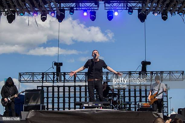 James Graham of The Twilight Sad performs at the Sasquatch Music Festival at the Gorge Amphitheatre on May 27, 2016 in George, Washington.