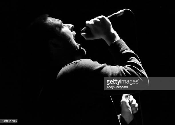 James Graham of The Twilight Sad performs on stage at Hammersmith Apollo on May 6 2010 in London England
