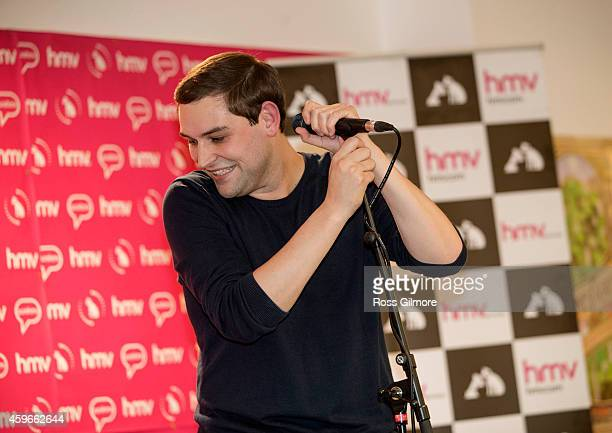 James Graham of The Twilight Sad performs on stage at HMV on November 27 2014 in Glasgow United Kingdom