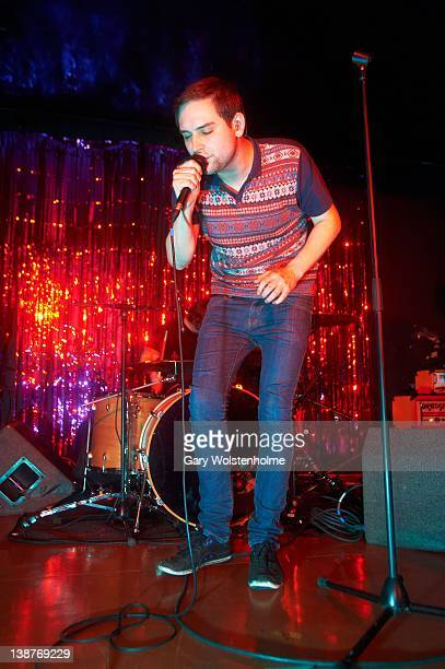 James Graham of The Twilight Sad performs on stage at Queens Social Club on February 11 2012 in Sheffield United Kingdom