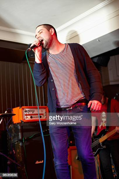 James Graham of The Twilight Sad performs on stage at The Harley on March 27, 2010 in Sheffield, England.