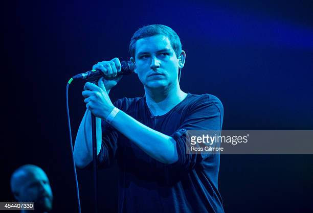 James Graham of The Twilight Sad performs on stage at The Last Big Weekend at Richmond Park on August 30 2014 in Glasgow United Kingdom