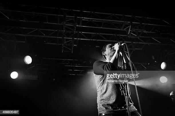 James Graham of The Twilight Sad performs on stage at The Liquid Room on December 14, 2013 in Edinburgh, United Kingdom.