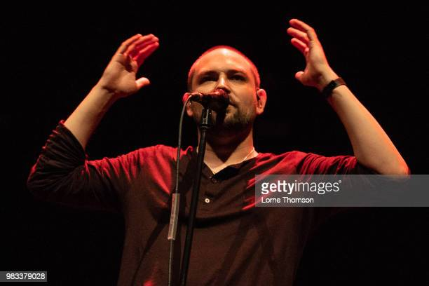 James Graham of The Twilight Sad performs on the last night of Robert Smith's Meltdown at The Royal Festival Hall on June 24 2018 in London England