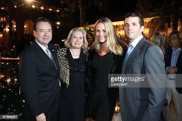 James Grau, Elizabeth Grau,Vanessa Trump and Donald Trump Jr. Attend the Andrea Bocelli concert at The Mar-a-Lago Club on February 28, 2010 in Palm...