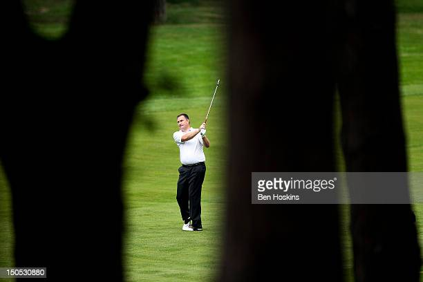James Green of Portsmouth Golf Club hits his approach into the 7th hole during the Regional Final of the Virgin Atlantic PGA National ProAm...