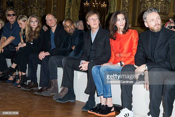 James guest Mario Testino Poppy Delevingne Cara Delevingne Woody Harrelson Kanye West Paul McCartney his wife Nancy Shevell and Husband of Stella...