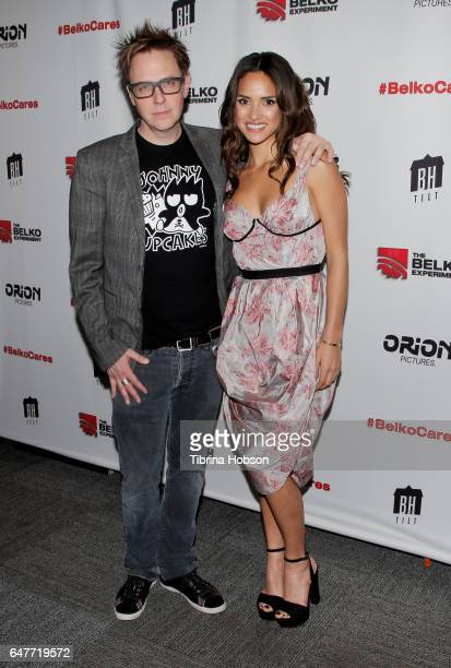 James Gunn and Adria Arjona attend the screening of 'The Belko Experiment' at Aero Theatre on March 3 2017 in Santa Monica California